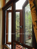 Woodwin Hot Seller Fenêtre composite en bois et en aluminium avec double vitre