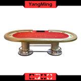 2017 Novo Design Personalizado texas holdem Poker Disco Oval Pés Casino Poker Tabela padrão de fábrica 10 jogadores Ym-Tb021
