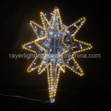 Luzes nortes da estrela do diodo emissor de luz da decoração ao ar livre do chapéu de coco para o Natal