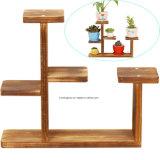 Étagère de bureau de crémaillère de bac de fleur de centrale de stand de support décoratif de table en bois de planteur pour le Home Office