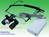 Magnifier dell'esame medico con la lampada del LED