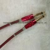6.35 Штепсельная вилка к 6.35 Mono кабелю гитары штепсельной вилки AV/Electric