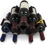 La farfalla della cremagliera del vino memorizza il mogano minimo di oscurità dell'Assemblea delle 8 bottiglie