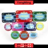 Высокосортный набор микросхем покера кроны/изготовленный на заказ пластичный акриловый набор микросхем казина с алюминиевым случаем Ym-Scma002