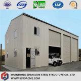 Entrepôt pré conçu qualifié de première classe Hall de structure métallique