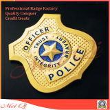 La polizia del metallo Badge con progetta
