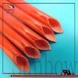 UL Classe Sunbow 200c h 2.5Kv Silicone gaine en fibre de verre pour l'AC transformateur du faisceau de fils du générateur du moteur