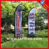 Bandeiras de praia de lágrima ao ar livre com logotipo impresso para publicidade