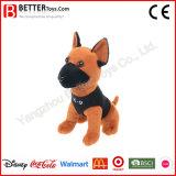 Perro militar suave animal relleno de la felpa del juguete para el regalo de la promoción