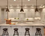 Белый реальный деревянный кухонный шкаф кухни трасучки