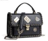 Signora Handbag Canvas di modo e sacchetto di mano di cuoio dell'unità di elaborazione (BDM001)