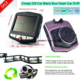 "Cheap Gift 2.4 ""HD 720p VGA Car Black Box Gravador de Vídeo Digital DVR com 1.0mega Car Camera DVR-2402"