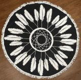Essuie-main de plage de forme ronde de configuration de fleur