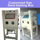 Máquina encajonada de la ráfaga de la chorreadora de arena de la voladura de arena para después del tratamiento la termal de la soldadura
