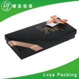 Logo personnalisé ruban Bijoux de fermeture de la boîte de papier de l'emballage cadeau