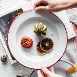 De BoterPlaat van het Email van de Plaat van Roung/Keukengerei Cookware Enamelware/de Boter Plantaardige Schotel van de Plaat
