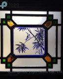 Het ingesloten Glas van de Vensters van het Glas/van Mantsjoerije met Rode, Blauwe, Groene, Gele Kleuren (s-mw)