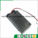 3AAA Batteriehalterung mit den roten/schwarzen Leitungen, Deckel und Schalter