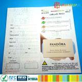 Carte principale d'hôtel classique de l'IDENTIFICATION RF 1K de PVC ISO14443A MIFARE de coutume avec le détenteur de carte