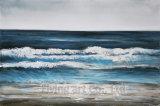印象主義のアクリルの海景の油絵
