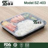 Conteneur de nourriture remplaçable de partition du plastique 4 avec la couverture