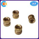 Parafusos/porcas retos serrilhados de processamento profissionais de bronze da inserção do bronze