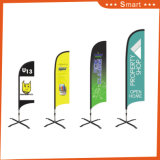 3PCS Custom Knife Feather Flag for Outdoor gold Advertizing Vent