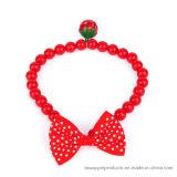 品質のチャーミングな真珠の宝石類はペットのためのBowtieのネックレスに点を打つ