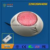 40W IP68 복각 RGB LED 수중 램프