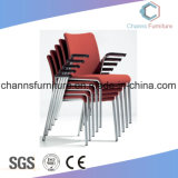Cadeira de treino de oficina de plástico colorido de alta qualidade com rodízios