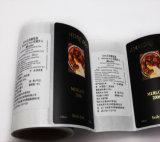 Het stempelen van Kleurrijke Druk paste de VinylStickers van Af:drukken voor de Fles van de Wijn aan