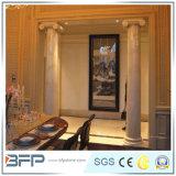 Coluna/coluna de mármore bege imperiais para a construção de cinco estrelas do projeto do hotel