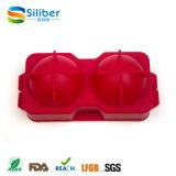 Fabricante reutilizable y libre de BPA 2 Esferas de la bola de hielo con la tapa