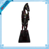 Handmade cinese orientale squisito della resina della statua rara del cavallo vecchio intagliato