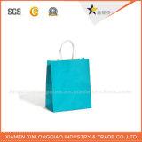 Sac bleu personnalisé de papier d'emballage avec une étoile blanche