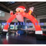 Voûte gonflable décorative extérieure de Noël/voûte gonflable du père noël