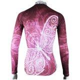 Cerise бабочек на открытом воздухе женские футболки длинной втулки на велосипеде футболках Nikeid Windbreak Full-Zip