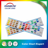 Cartão decorativo da cor das dobras do revestimento três