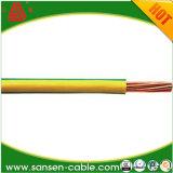 Flama da tensão de H07V-R 450/750V - fio retardador do cabo elétrico de material de isolação do PVC