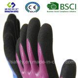 Перчатки замороженные латексом, перчатки работы безопасности отделки Sandy (SL-RS308)