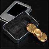 2 lames raffinent fileur fait sur commande de main d'impression de logo du fileur EDC de fileur de personne remuante de jouets de fileur de doigt de couleur solide le tri