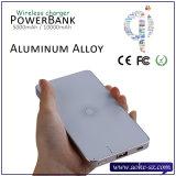 アルミニウム金属の無線充電器2in1 USB車の充電器