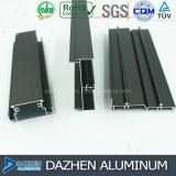 Profil en aluminium personnalisé par extrusion en aluminium pour la porte de guichet de tissu pour rideaux