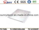Panneau neuf de PVC de modèle de laminage plat de marbre pour le fournisseur de la Chine de plafond