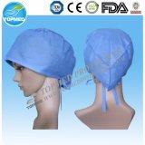 Casquillo quirúrgico disponible de la enfermera del casquillo para médico