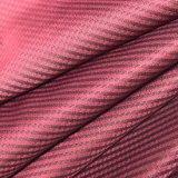 tela de nylon del hilado 20d de Houndstooth del telar jacquar negro de la raya para la ropa al aire libre