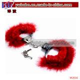 おもちゃバレンタインデー楽しいノベルティふわふわ手錠&キーレッド(V1014)