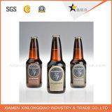 Collant adhésif de bouteille de vin d'impression d'étiquette en métal de papier d'emballage d'étiquette