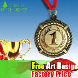Medaglione di carnevale e trofeo del distintivo dei premi e medaglia di coraggio