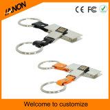 Neuer Leder USB-Stock mit gravierte Ihr Firmenzeichen